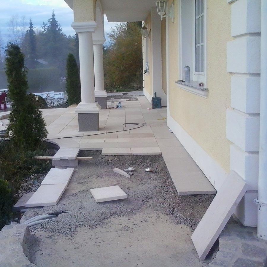 Terrasse im Bau